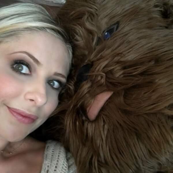 Sarah Michelle Gellar et  Chewbacca