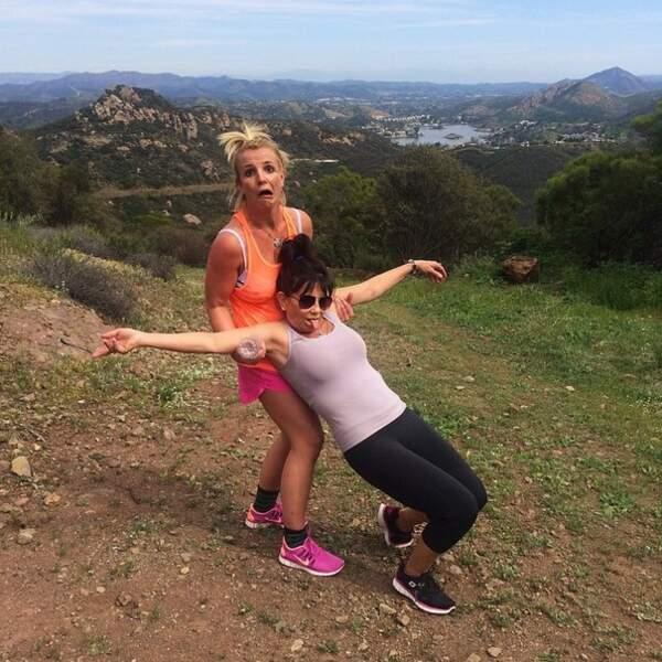 Drôle : Britney Spears s'est ressourcée à la montagne avec sa maman
