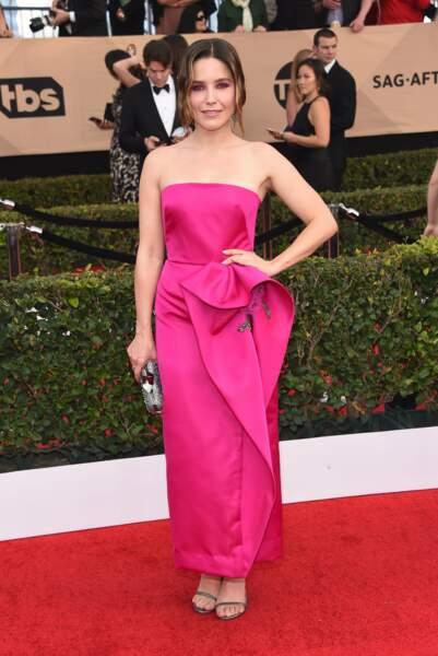 Le rose, une couleur choisie aussi par Sophia Bush