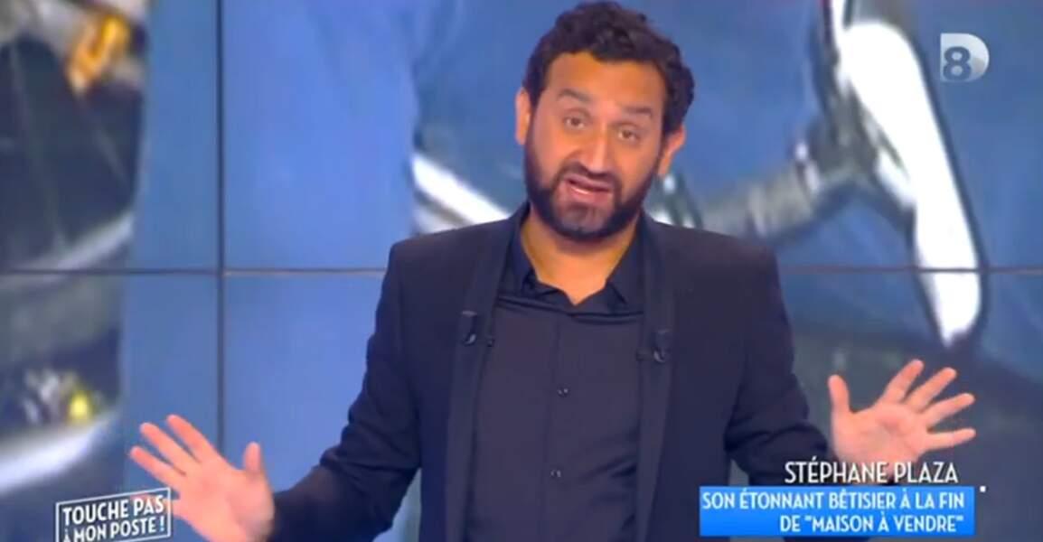 Idem pour Cyril Hanouna, particulièrement sobre en total look black