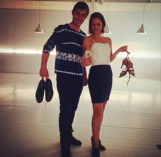 Nathalie Péchalat et Brian Joubert ont reçu leurs chaussons de danse ! Ils sont parés