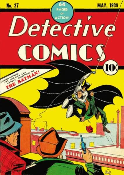 Une cape en forme d'ailes de chauve-souris : pas de doute, il s'agit bien de Batman !