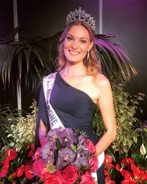 Marie-Anne Halbwachs (19 ans) a été élue Miss Auvergne
