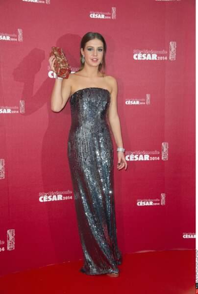 2014 : elle repart avec le César du Meilleur espoir féminin pour La Vie d'Adèle, évidemment.