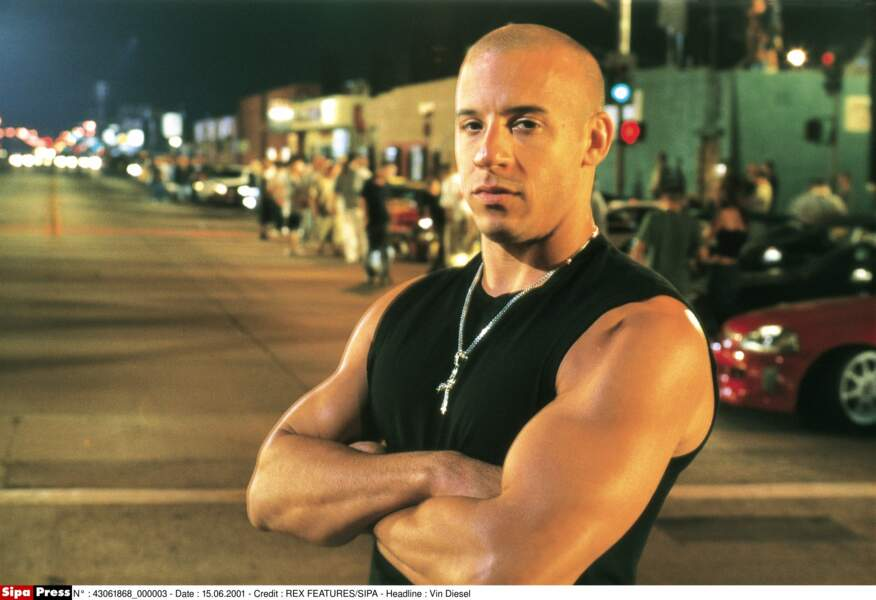 Vin Diesel et sa tête de jeunot dans le premier film...