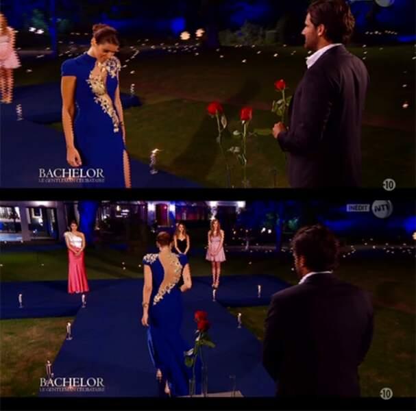And the winner is : Elodie, du Bachelor. Avec une robe pareille, tu m'étonnes qu'elle ait eu une rose !