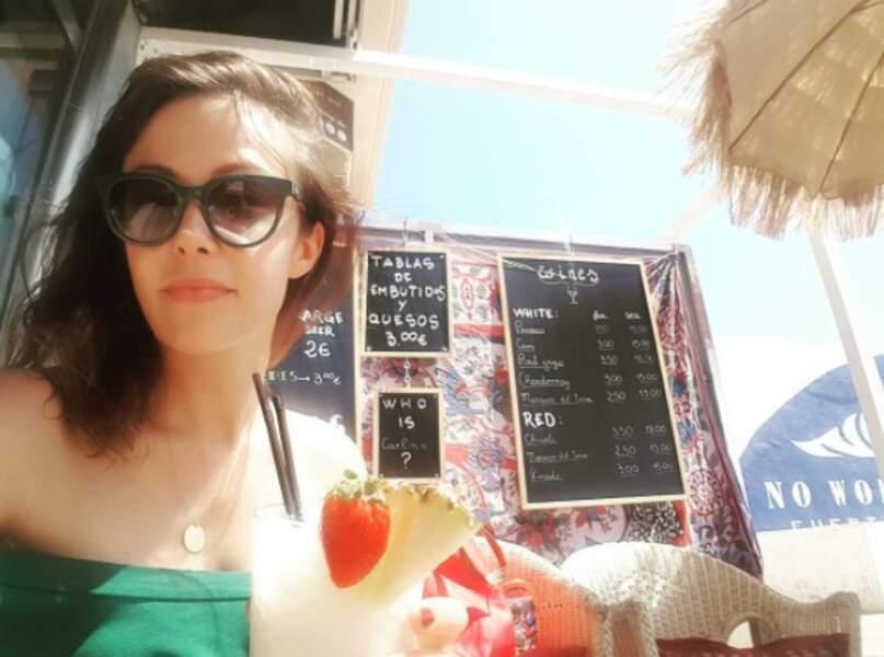 Idem pour Dounia Coesens, en vacances à Fuerteventura.
