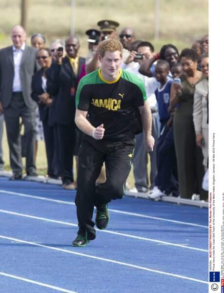 Le Prince Harry en viste en Jamaique en 2012.