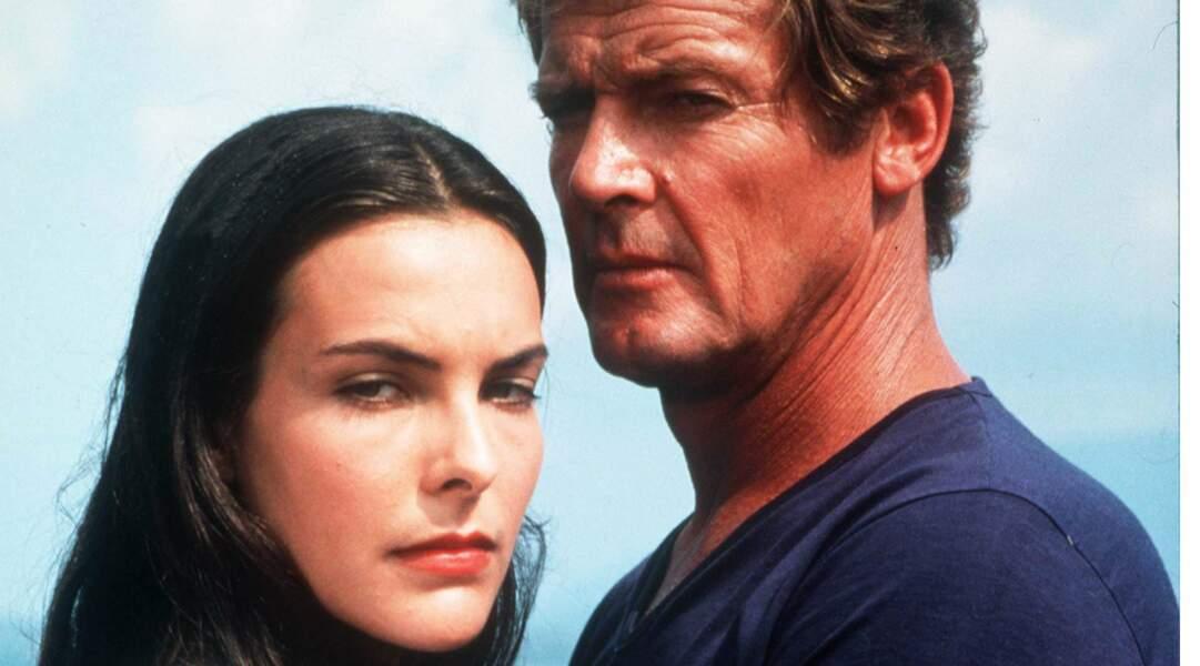 Bouquet (qui a très mal vécu le tournage de Rien que pour vos yeux) aux côtés du 007 Roger Moore.