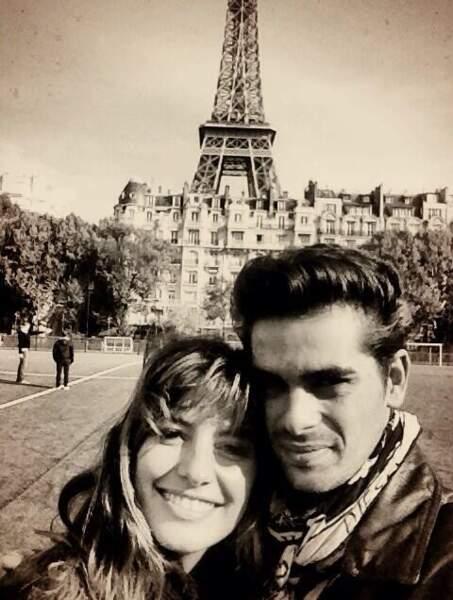 Keen'V et Fauve Hautot : deux amoureux à la Tour Eiffel