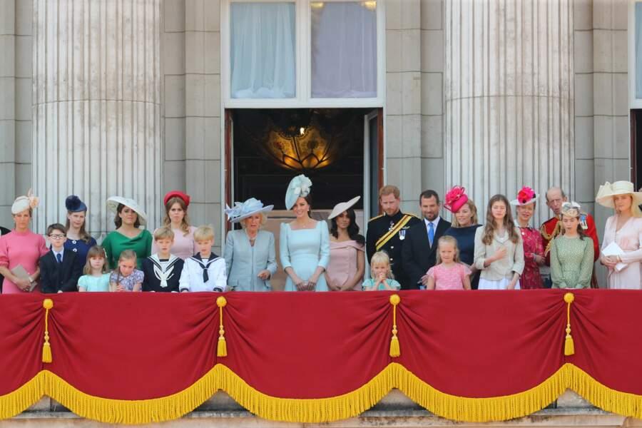 La famille royale sur l'emblématique balcon pour saluer la foule