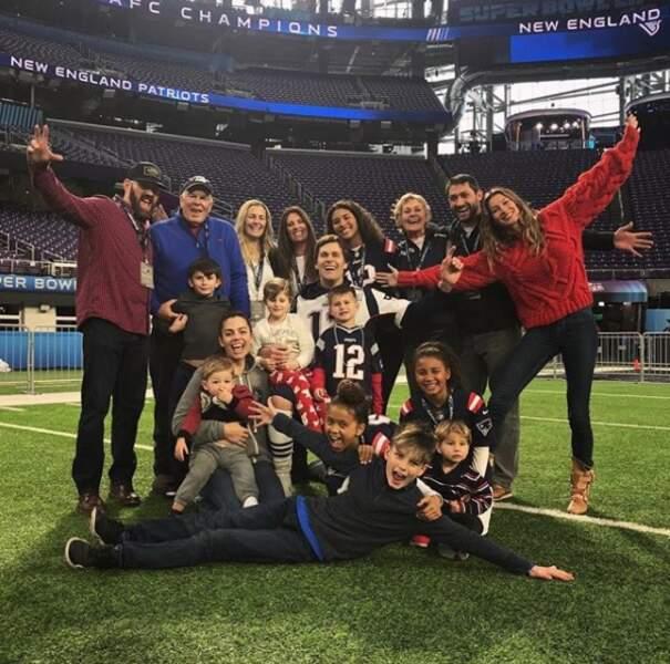 Avant la rencontre, Tom Brady a pu compter sur le soutien des siens