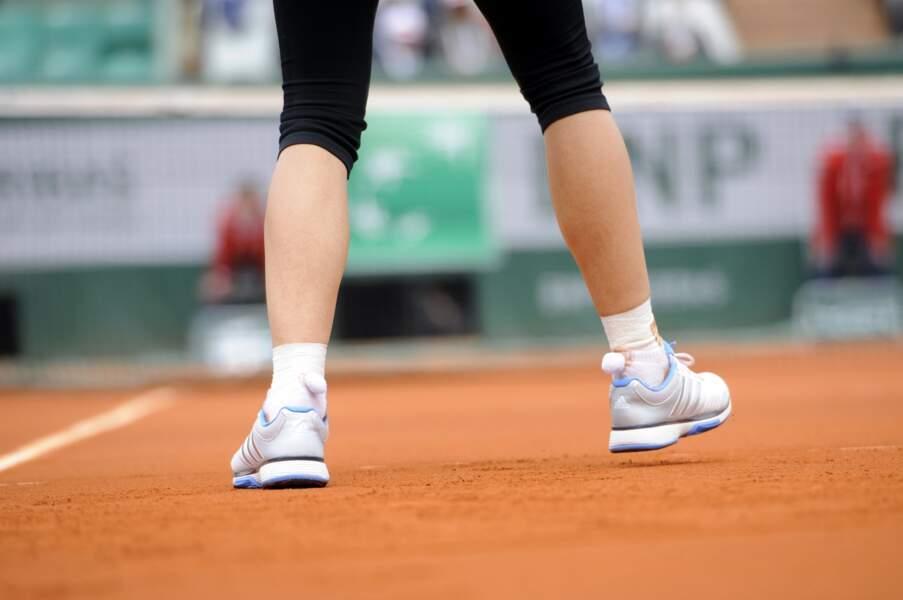 Point fashion N°1 : les chaussettes à pompon ont réussi à se glisser à Roland-Garros.