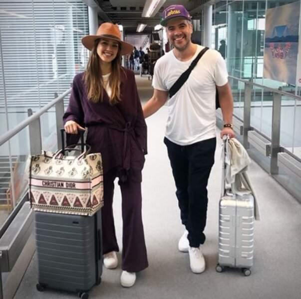 Jessica Alba et son mari Cash se préparaient à s'envoler pour une escapade en amoureux.