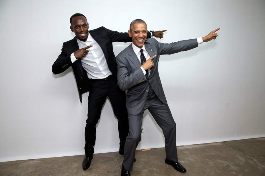 Usain Bolt aussi a voulu prendre la pose