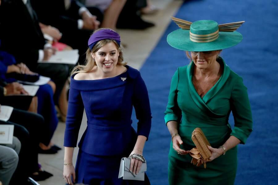 Sarah Ferguson accompagnée de son aînée, la princesse Beatrice