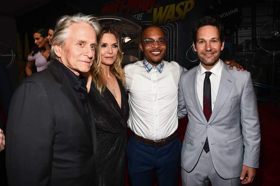 Dernière petite photo de groupe : Michael Douglas, Michelle Pfeiffer, T.I. and Paul Rudd