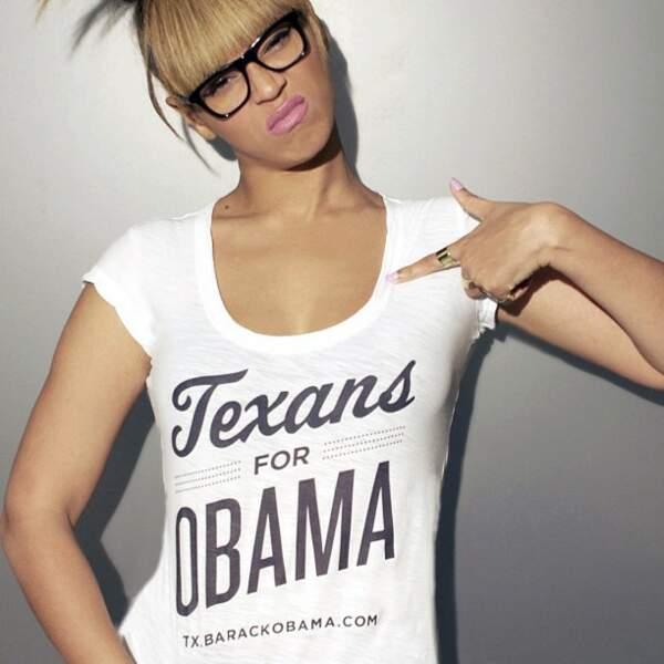 Voici sa première photo, postée pour soutenir Barack Obama