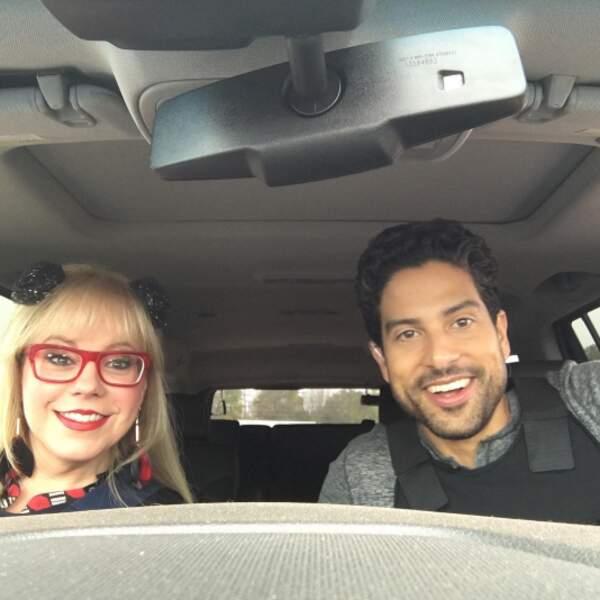 Kirsten Vangsness et Adam Rodriguez avaient le smile sur le tournage d'Esprits Criminels.