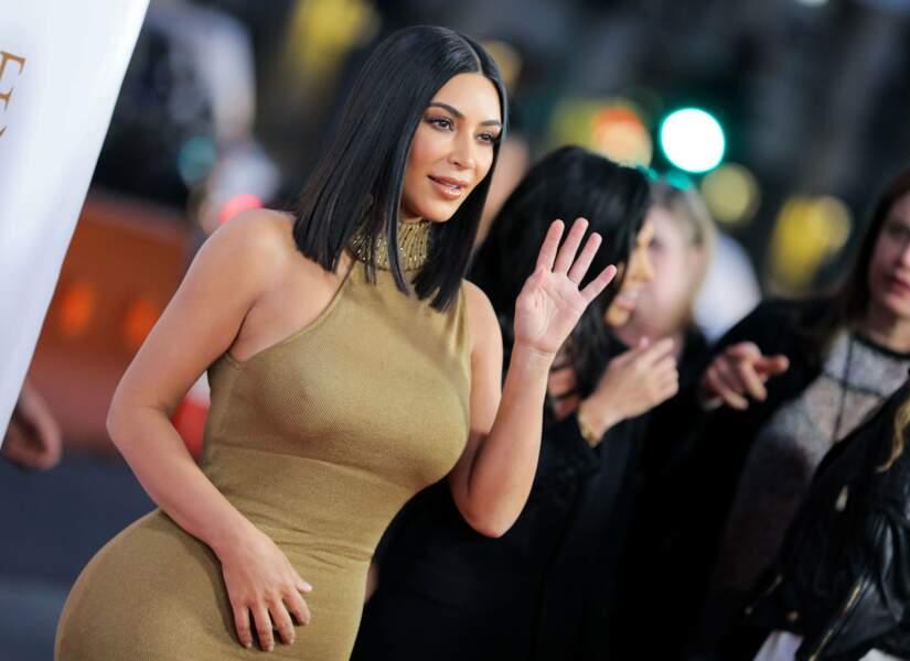 Kim Kardashian en a profité pour faire un coucou à ses fans