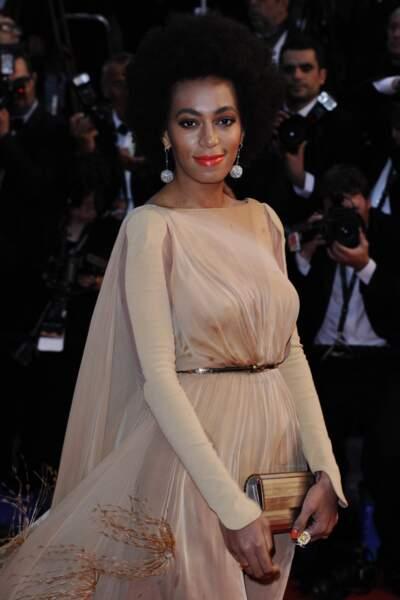 Solange Knowles, soeur de Beyoncé, a fait un crochet par la Croisette