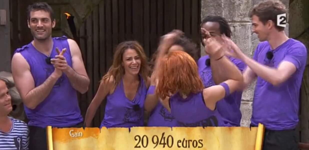 Et elle a remporté la jolie somme de 20940 euros ! Belle performance !