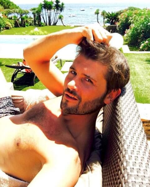Christophe Beaugrand a fait un petit break à Saint-Tropez.