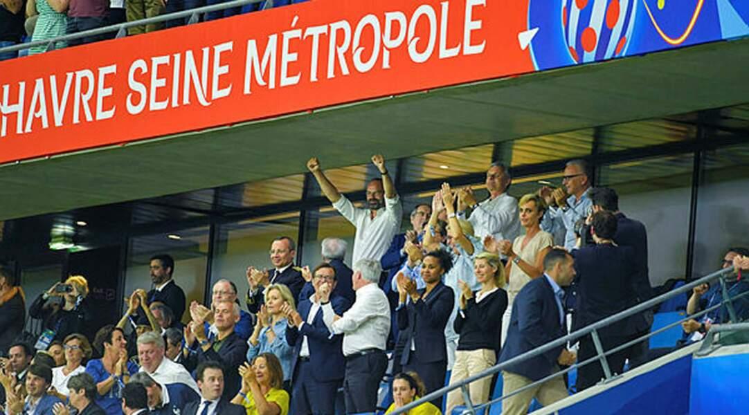 Le Premier ministre Edouard Philippe a mouillé la chemise pour l'équipe de France !