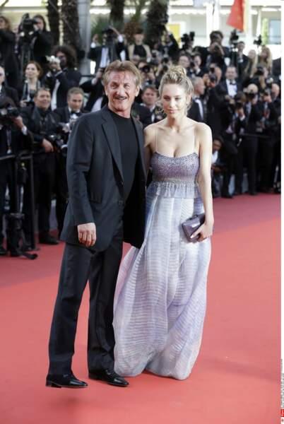 Sean Penn et sa fille tout sourire