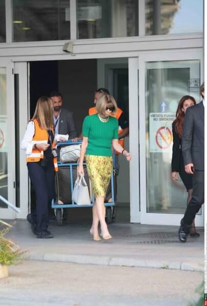 Anna Wintour fait une tête d'enterrement pour le mariage de George et Amal...