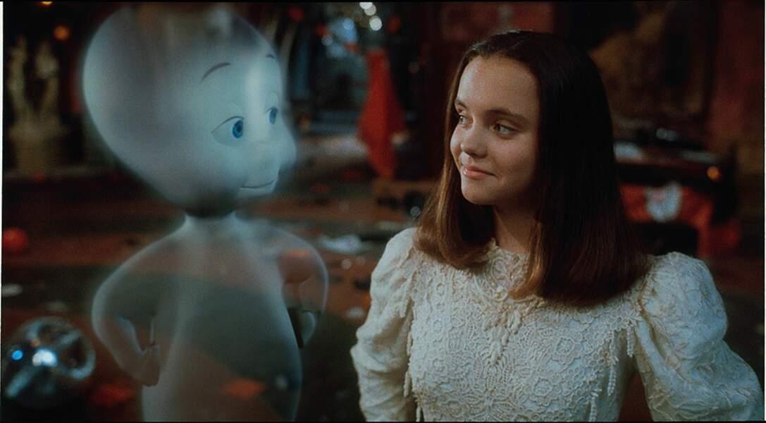 Peu après son rôle de Mercredi Addams, Christina Ricci a changé de registre pour jouer avec le gentil Casper