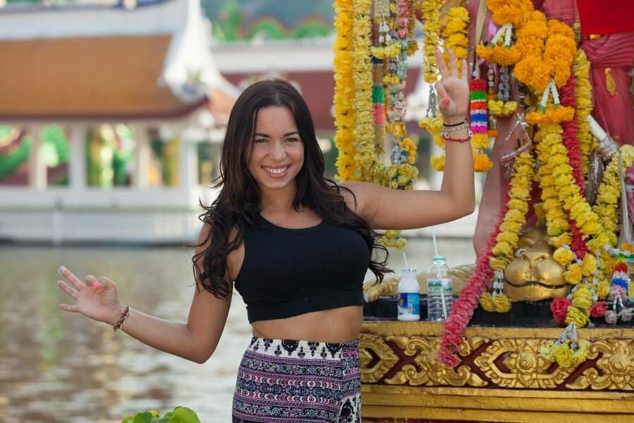 Stéphanie fait partie de l'aventure en Thaïlande