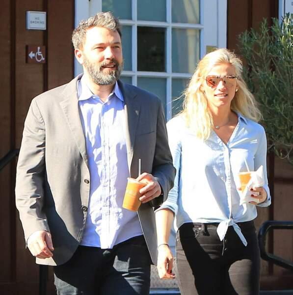 L'acteur Ben Affleck et la productrice Lindsay Shookus.