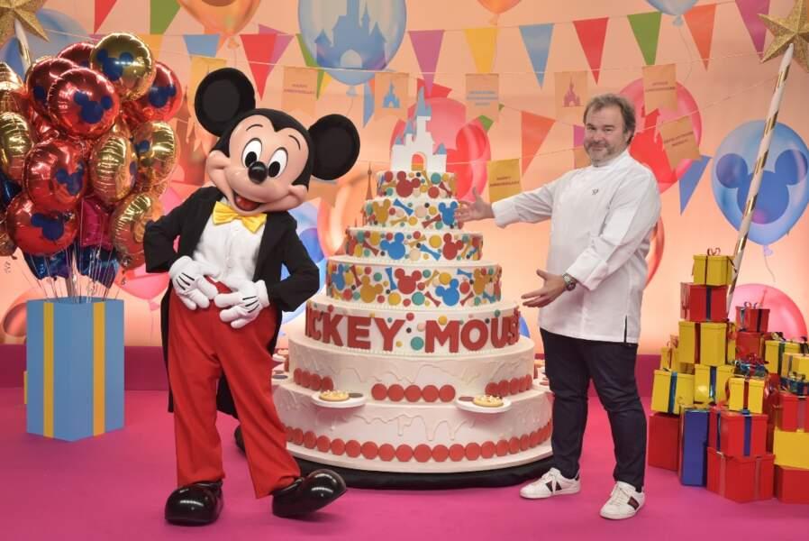 Le pâtissier Pierre Hermé a confectionné le gâteau d'anniversaire de Mickey