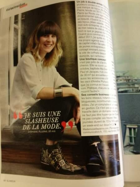 Cette jeune femme vous rappelle quelqu'un ? Daphné Bürki elle, a flippé en ouvrant son magazine !