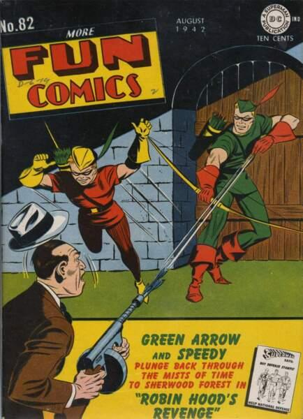 Tout de vert vêtu, Green Arrow est fortement inspiré de Robin des Bois.