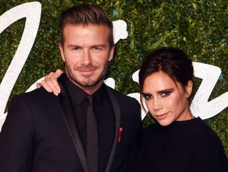 Le couple Beckham, assorti en noir