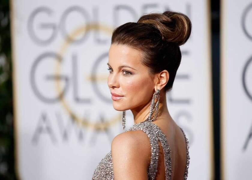 Kate Beckinsale et son joli chignon