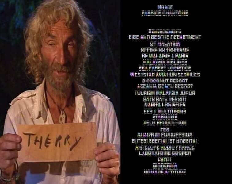 """Bernard joue la carte de l'originalité et écrit Thierry sans le """"i"""". A moins qu'il ne l'ait caché derrière le """"e""""."""