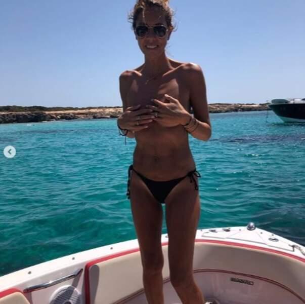 Un peu de sexy : Rachel Bourlier a posé topless.