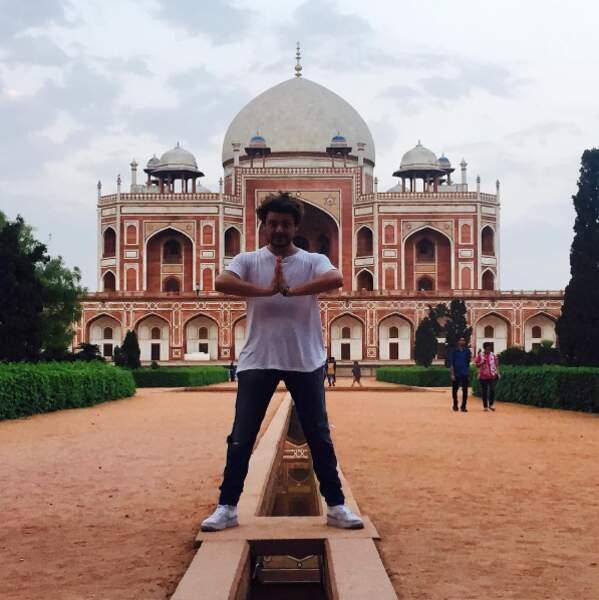 En Inde pour le tournage du film Number One