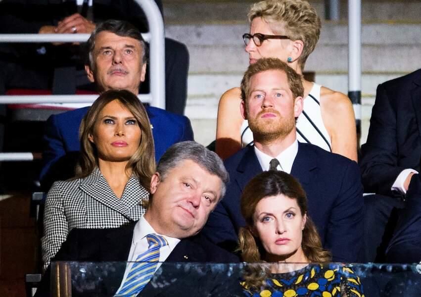 Le prince Harry était installé à côté de Melania Trump et devant le couple présidentiel ukrainien…