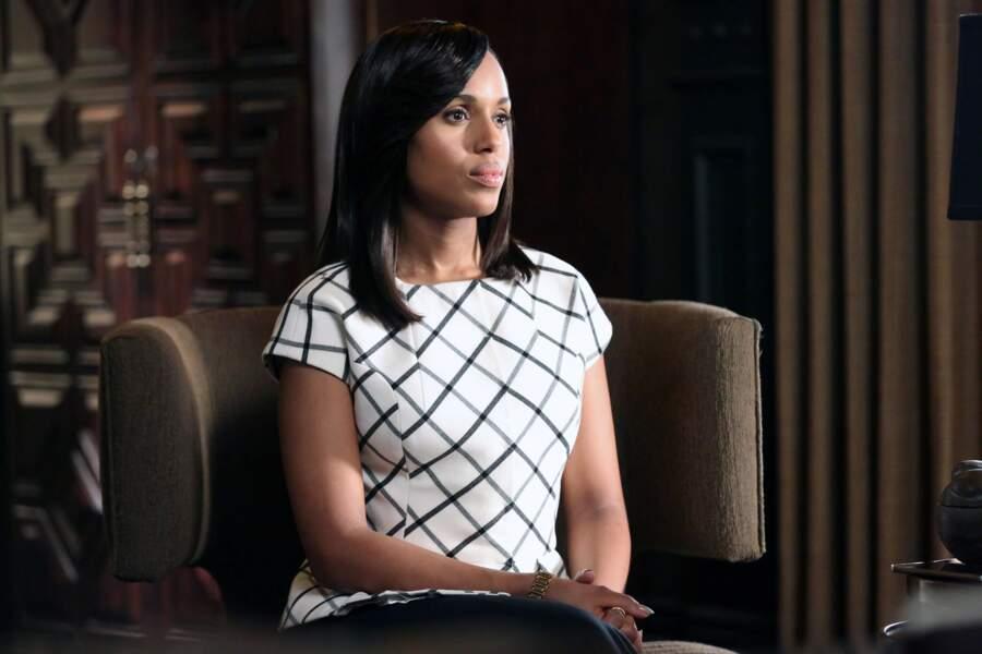 Niveau couleurs, Olivia reste toujours sobre : noir, blanc, beige, caramel...