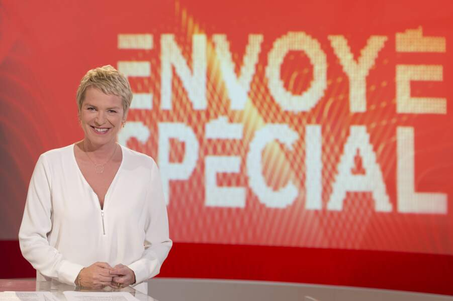 Son style a bien changé aujourd'hui, lorsqu'elle présente Envoyé Spécial ou Cash Investigation sur France 2