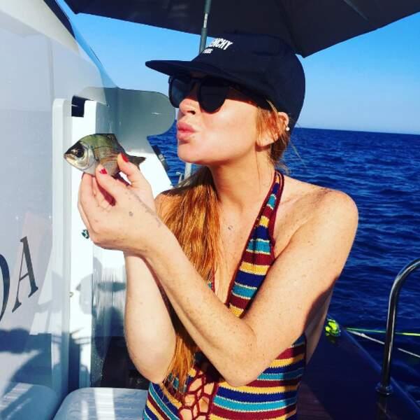 Et comme elle, de nombreux people sont encore en vacances. A commencer par Lindsay Lohan et son nouveau mec.
