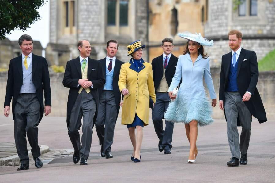 Arrivée du royal gang au mariage de Lady Gabriella Windsor et Tom Kingston