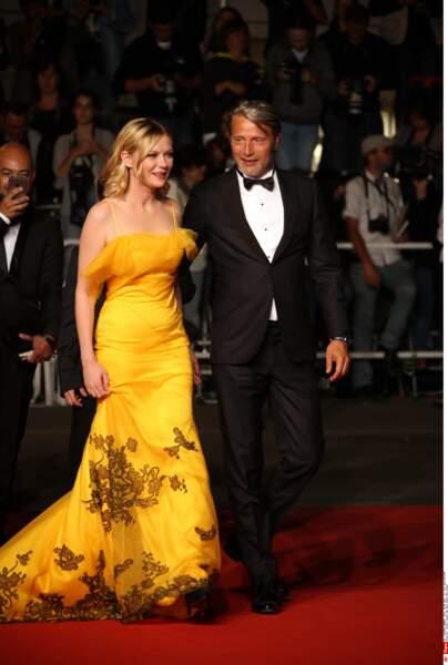 Kirsten Dunst, sublime en jaune, et Mads Mikkelsen, membres du jury