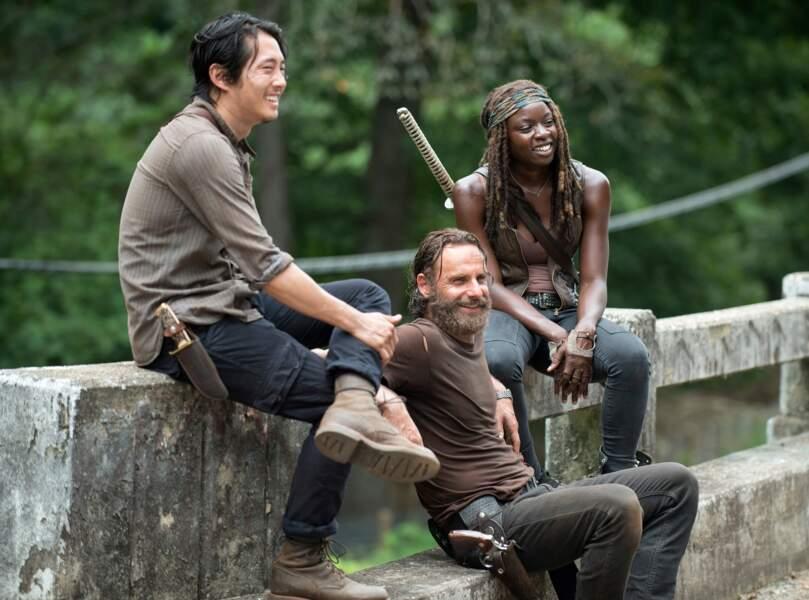"""Photoshoot pour la pochette de la bande originale de The Walking Dead, """"Vivre ou survivre""""... Ou pas."""