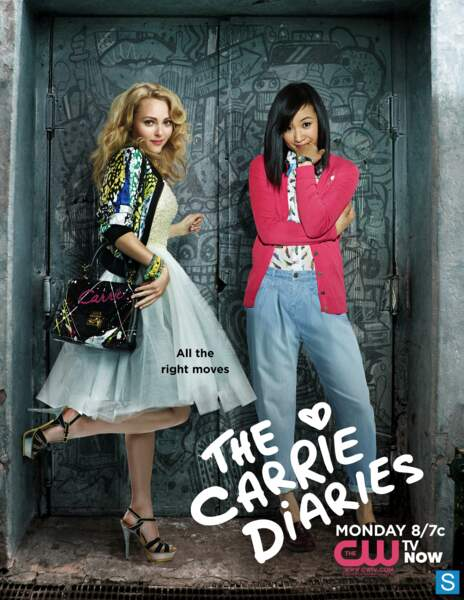 Carrie Bradshaw et sa copine Jill Thompson dans la série The Carrie Diaries