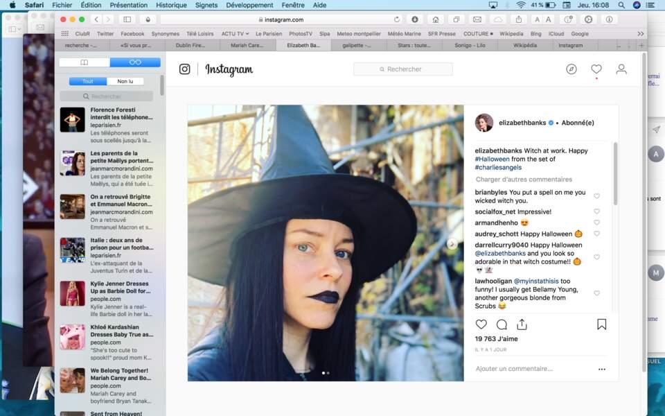 Elizabeth Banks en sorcière
